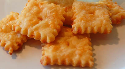 Make your own cheese crackers with Happy Simple Living