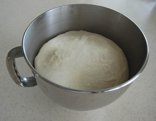 Pizza dough at Happy Simple Living