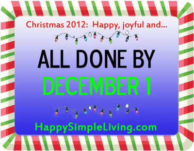 Simplify Your Holidays at Happy Simple Living blog