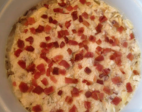 Hot bacon dip at Happy Simple Living blog