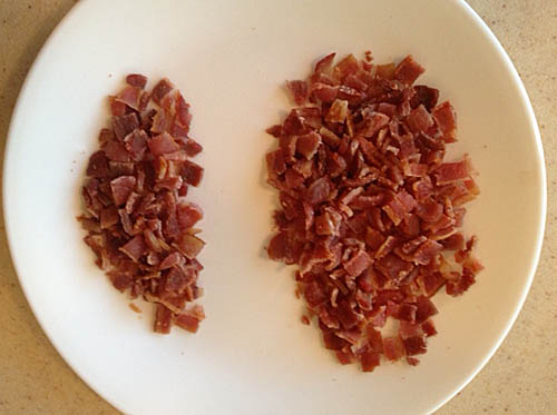 Crumbled bacon at Happy Simple Living blog