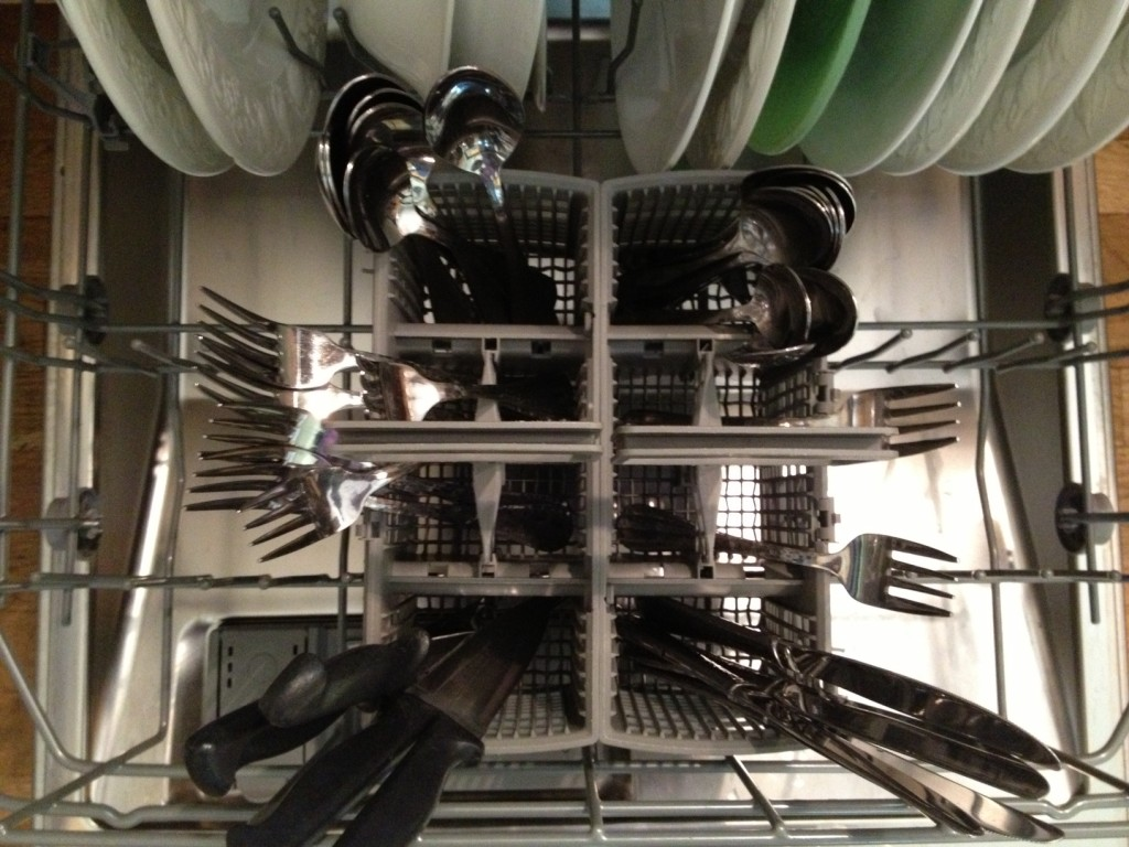 Loading the dishwasher at Happy Simple Living blog