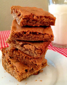 Chewy Butterscotch Sea Salt Brownies from Happy Simple Living blog