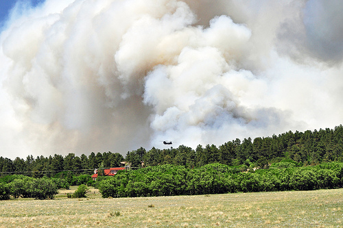 Black Forest Fire - photo by U.S. Army
