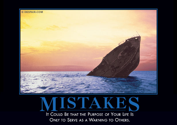 Mistakes at Happy Simple Living blog