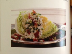 Bacon wedge salad at Happy Simple Liiving blog