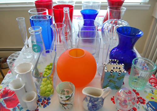 Vase collection at Happy Simple Living blog