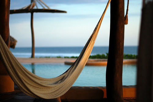 Beach hammock at Happy Simple Living blog