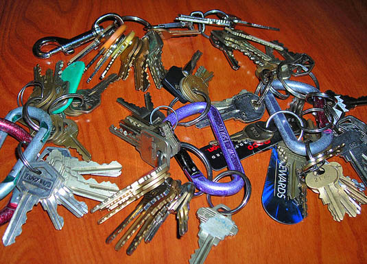 Too many keys