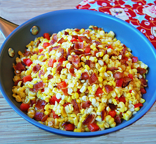Fried Corn with Bacon | Happy Simple Living blog