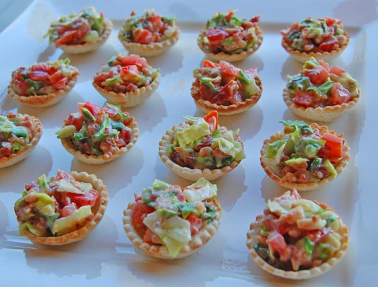 Mini BLT appetizer