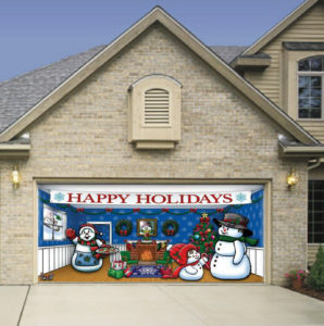 holiday garage door decal