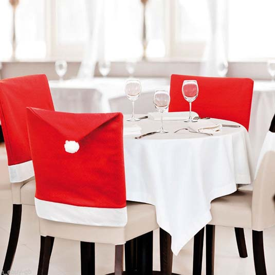 santa hat holiday chair covers