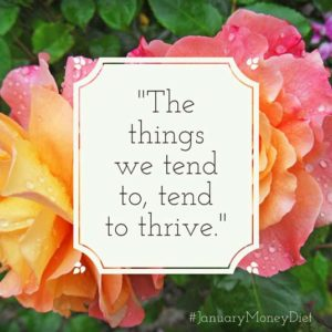 Tend to your finances | Happy Simple Living blog