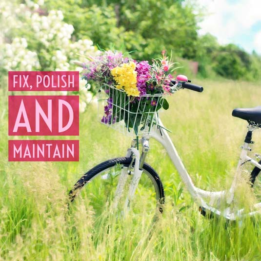 Fix, Maintain and Polish Your Possessions | January Money Diet