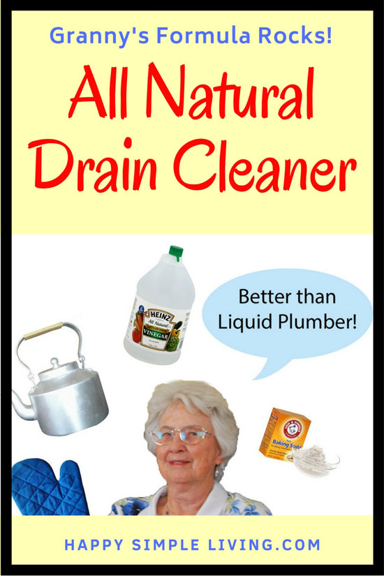 Make your own all-natural drain cleaner | #cleaning #cleaninghacks #naturalcleaner #