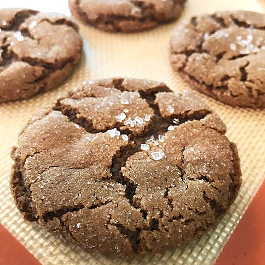 Ginger molasses spice cookie