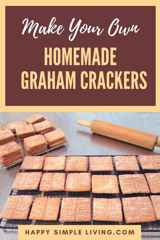 Homemade Graham Crackers | #cookies #crackers #baking