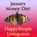 January Money Diet from Happy Simple Living blog