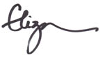 Eliza's signature for happy simple living
