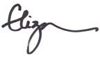 The signature for Eliza Cross