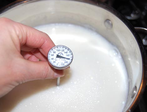Heat the milk to 180 degrees for homemade yogurt | Happy Simple Living