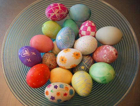 Easter Eggs at Happy Simple Living