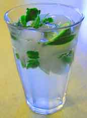 Mint mojito at Happy Simple Living blog