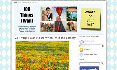 100 Things I Want Blog