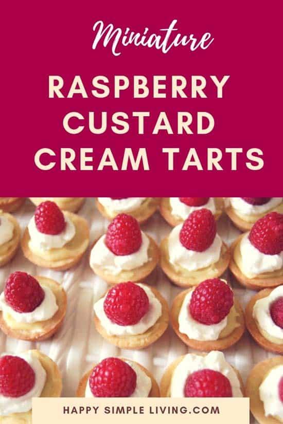 Raspberry Custard Tarts | #easydesserts #tarts #raspberries #raspberrytarts #minitarts #baking
