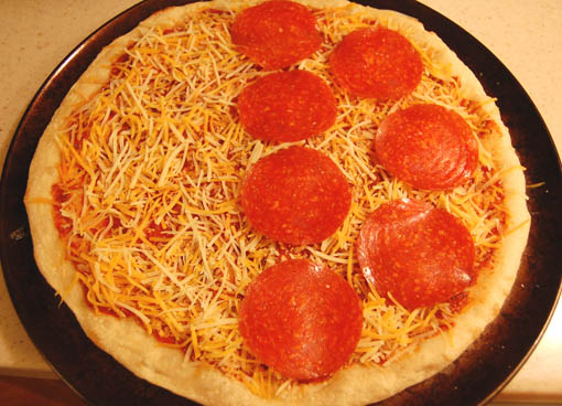 Homemade pizza recipe at Happy Simple Living blog
