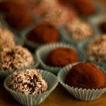 Chocolate truffles at Happy Simple Living blog