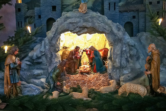 Nativity at Happy Simple Living blog