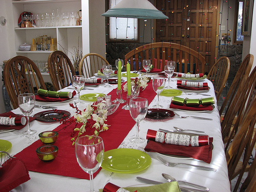 Christmas table at Happy Simple Living blog