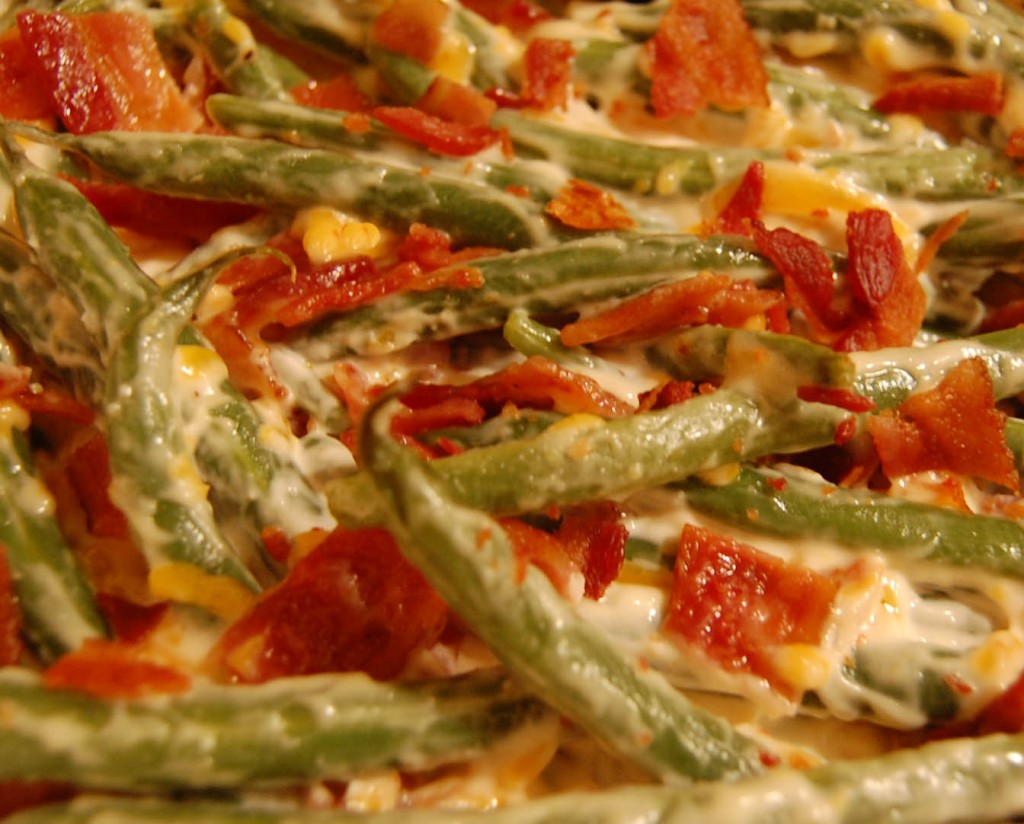 Bacon Green Bean Casserole at Happy Simple Living blog