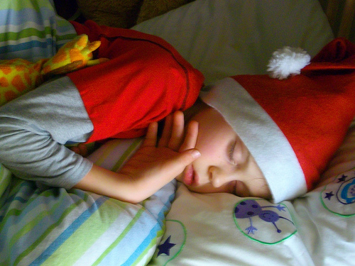 Deep sleep at Happy Simple Living blog