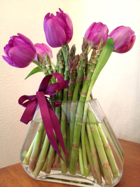 Tulip Arrangement at Happy Simple Living blog