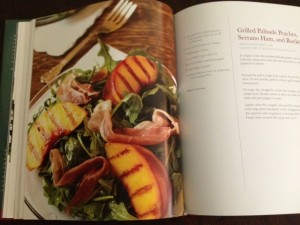 Grilled peach salad from Happy Simple Living blog