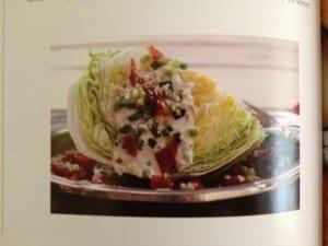 Bacon wedge salad at Happy Simple Liiving blog