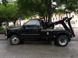 Tow truck at Happy Simple Living blog