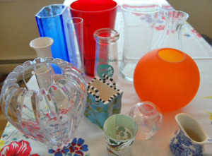 Small vase collection at Happy Simple Living blog