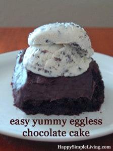 Chocolate Cake Recipe no eggs