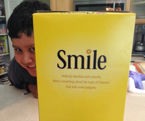 Smile about Cheerios GMO free