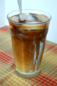 Iced coffee with sweetened condensed milk
