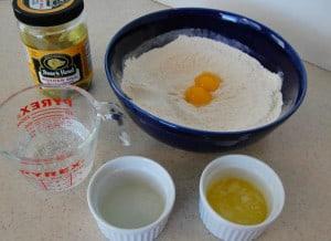 Making homemade fried pickles