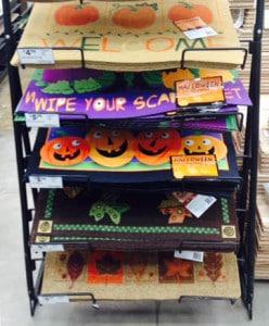 Halloween door mats