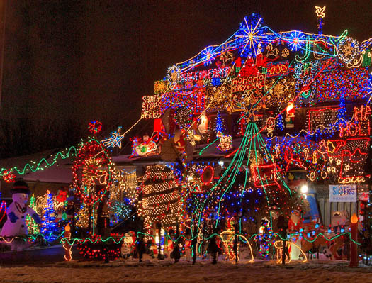Holiday Christmas lights - photo by Michael Gill.