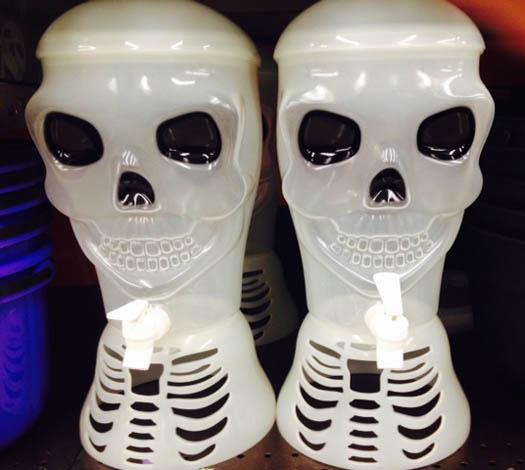 Skeleton drink dispensers