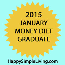 2015 January Money Diet graduate