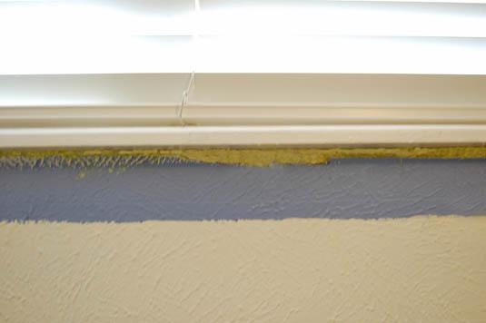 Insulating foam to fill a window gap